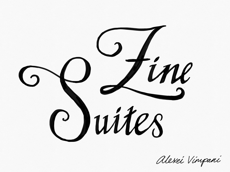 """Zine Suites"" written in ornamented cursive."